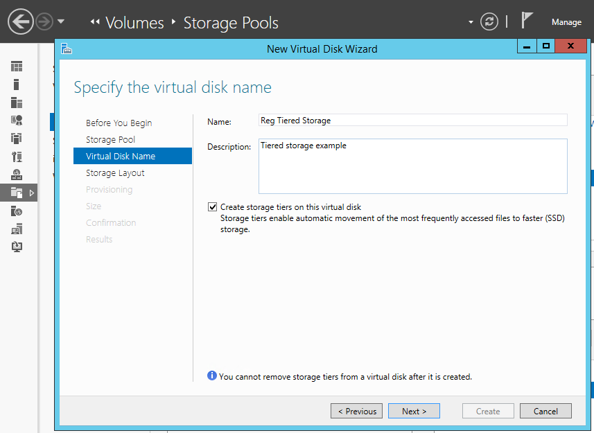 Windows Server 2012 R2 tiered storage
