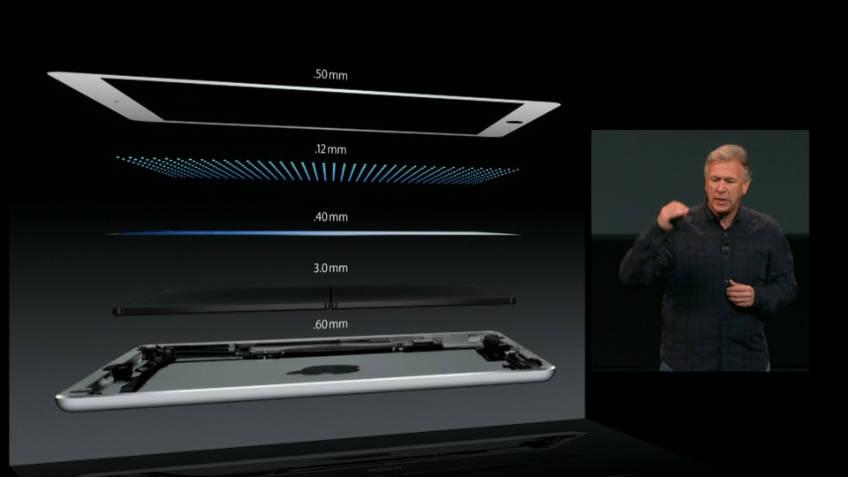 iPad Air không chỉ nhẹ mà còn rất mỏng