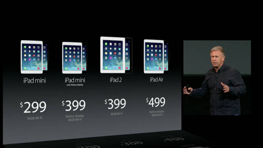 Apple's new iPad line, with base prices