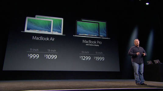 Apple's new MacBook line as of October 22, 2013