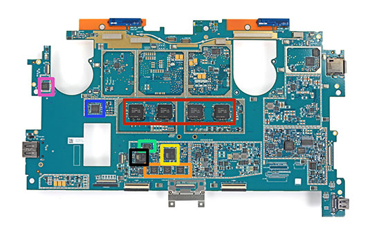 Surface Pro 2 motherboard, with RAM