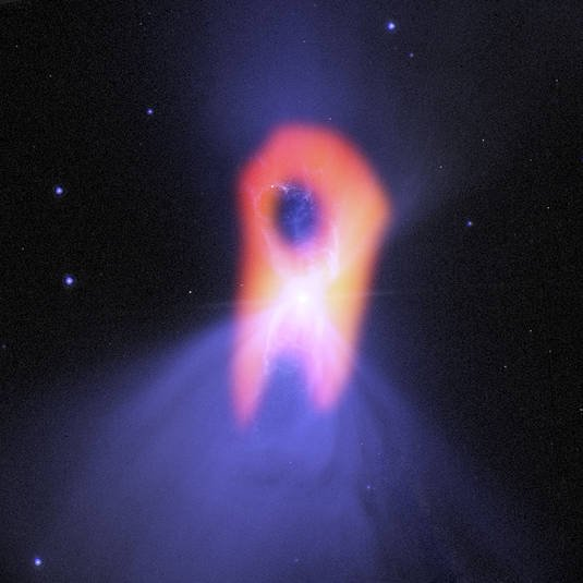 The Boomerang Nebula in the constellation Centaurus, as imaged by the Atacama Large Millimeter/submillimeter Array (ALMA) telescope