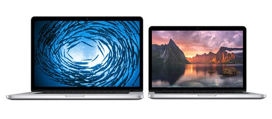 Apple's MacBook Pro with Retina display models from 2013