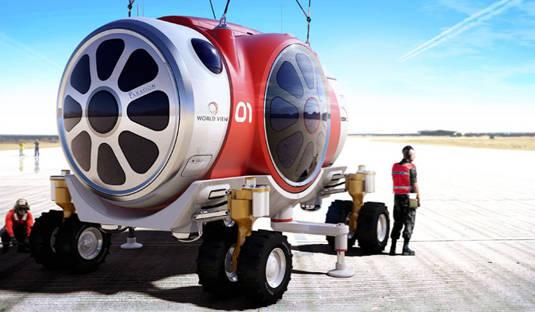World View Enterprises balloon-gondola space vehicle on Earth