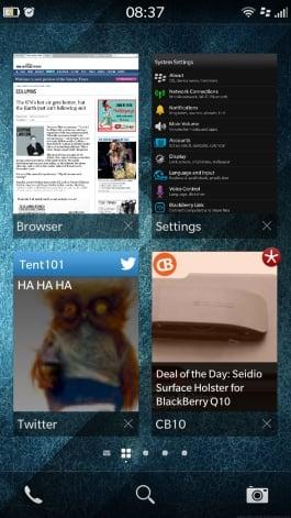 Screenshot of BlackBerry OS 10.2