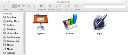 iWork 09 folder
