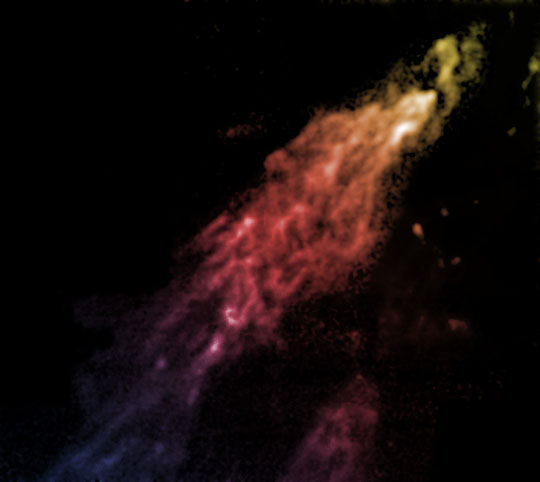 The Smith Cloud, a globule of gas on the fringe of the galaxy
