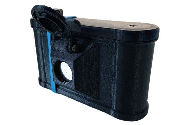 Clint O'Connor's pinhole camera. Pic: Clint O'Connor