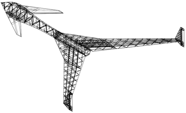 Axonometric view of the Vulture 2 spaceplane