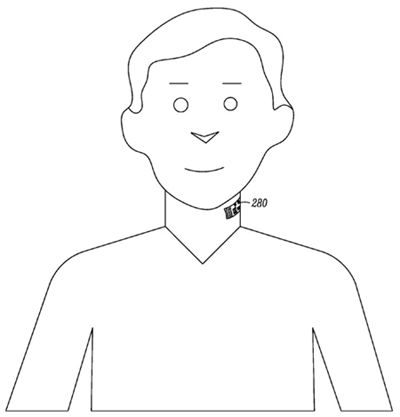 Illustration from Motorola 'Electronic Skin Tattoo' patent application