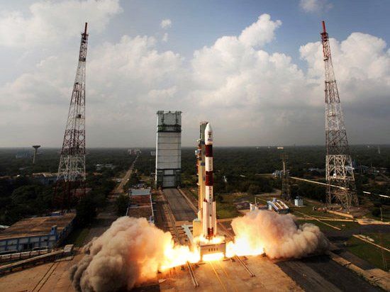 PSLV-C25 blasts off. Pic: ISRO
