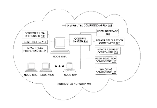 IBM Patent green cloud illustration