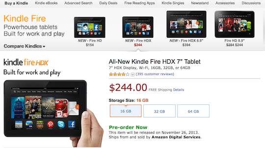 Kindle Fire Prices - America