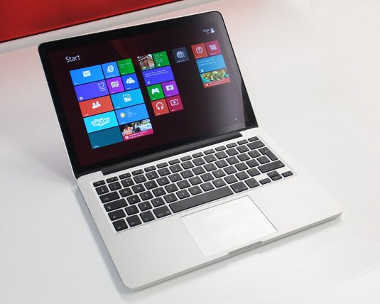 Apple MacBook Pro 13in late 2013 running Windows 8.1 using Boot Camp