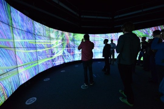 The Cave 2 visualisation facility in Melbourne, Australia