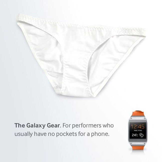 Samsung Galaxy Gear and pants