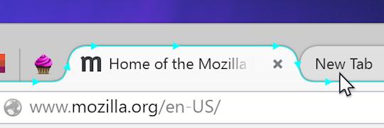 Firefox's new tabs