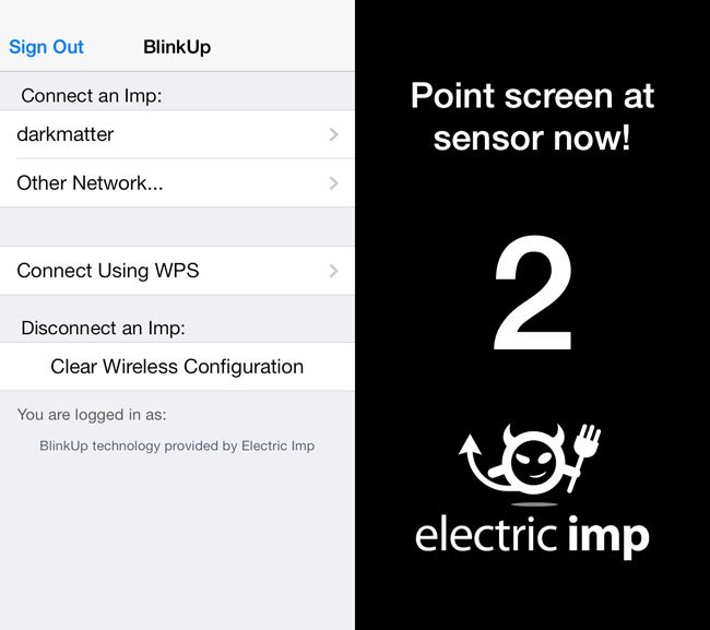 Electric Imp app