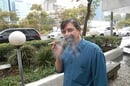 Author with e-cig