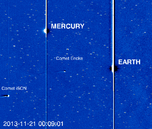 Comet Ison seen by NASA's STEREO spacecraft