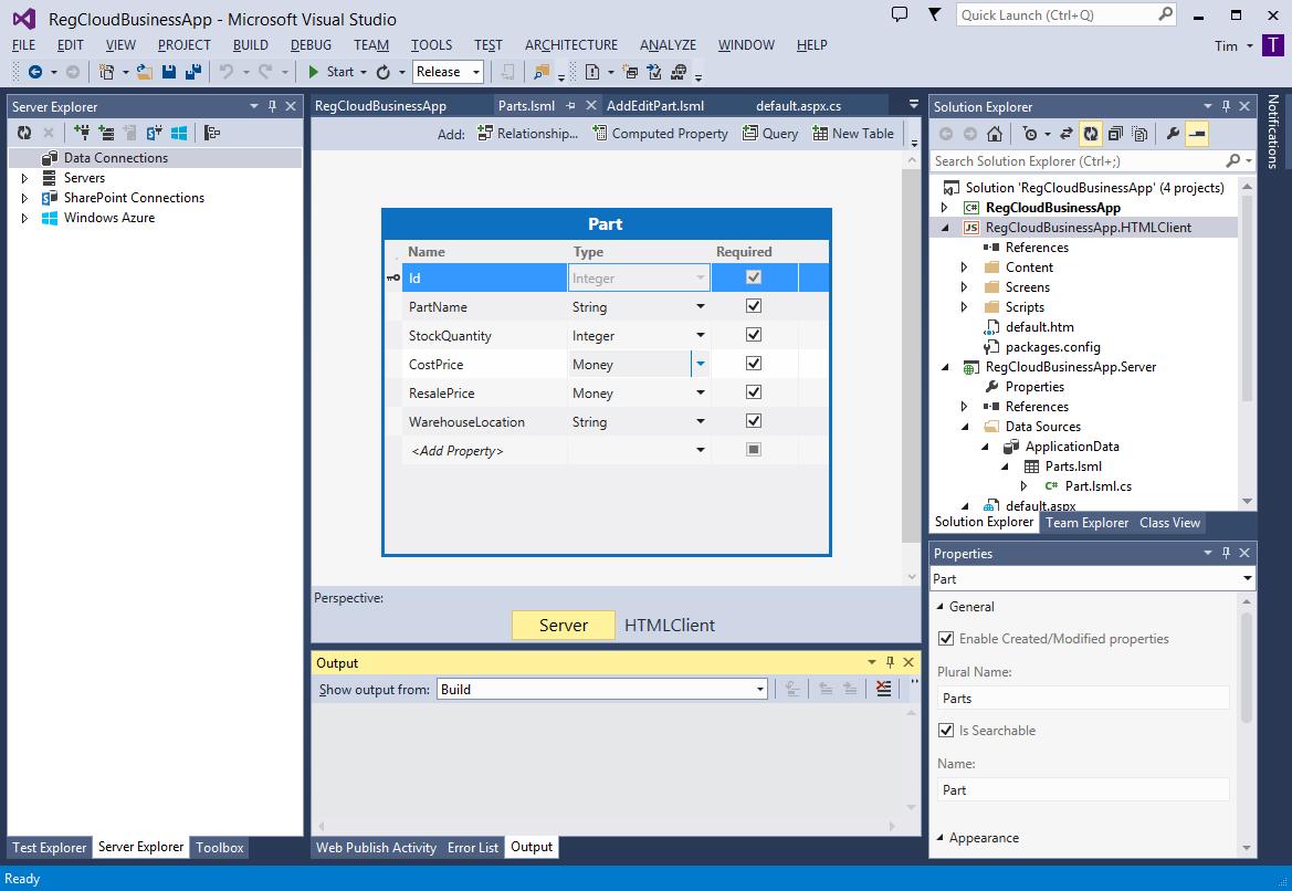 Visual Studio 2013 Cloud App