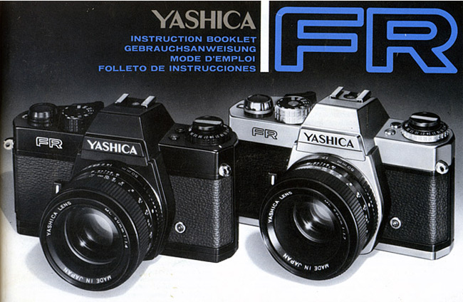 The front cover of the Yashika FR manual
