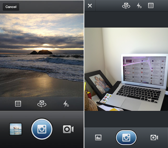 Instagram's iOS and Android apps