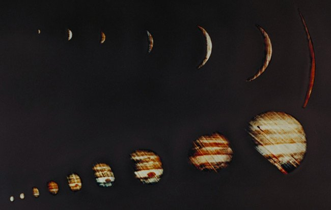 Pioneer 10 images of Jupiter. Pics: NASA