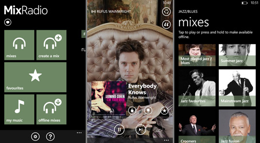 Nokia MixRadio app for Windows Phone