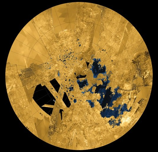 Seas of liquid methane on Titan