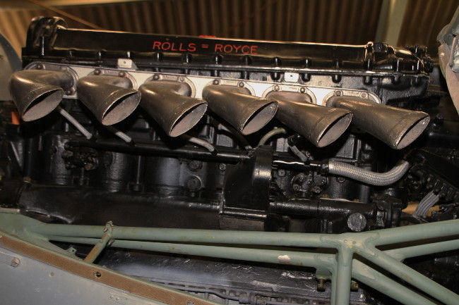 A mid-war Rolls Royce Merlin V12 engine