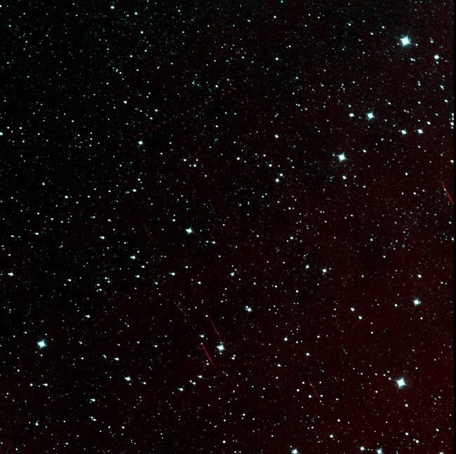 A patch of sky in the constellation Pisces snapped by NEOWISE