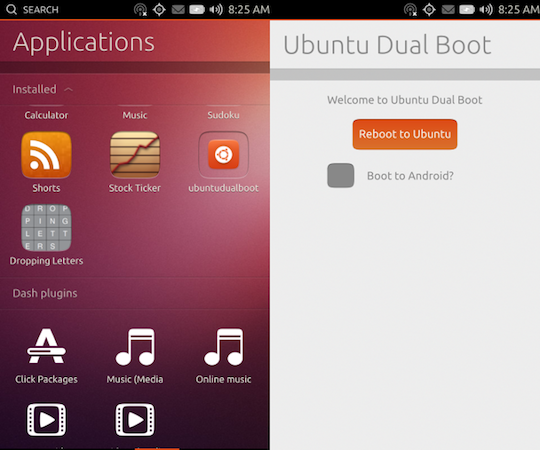 Ubuntu's dual boot for Android tool