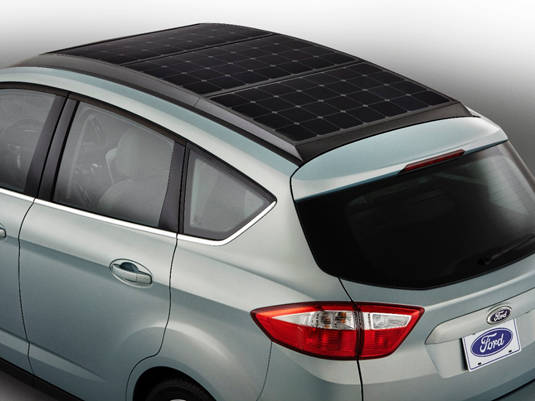 Ford C-MAX Solar Energi Concept – view from above and facing the rear