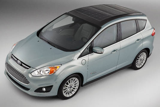 Ford C-MAX Solar Energi Concept – view from above and facing the front