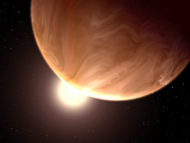 Artist's impression of a cloudy exoplanet