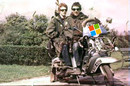 "Old scanned snap of two ""Mods"" on a scooter. By Sergio Calleja  http://www.flickr.com/photos/24899877@N00/101627303 Licensed under  Creative Commons Attribution-Share Alike 2.0 Generic"
