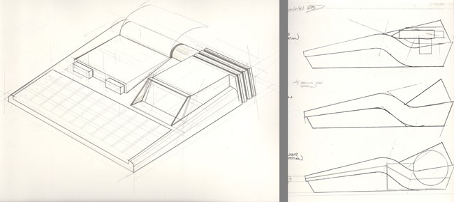 Rick Dickinson 1981 pre-QL sketches