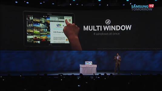 New Samsung 12.2-inch Galaxy Tab Pro and Galaxy Note Pro: 'Multi Window'