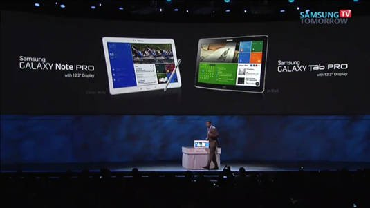 New Samsung 12.2-inch Galaxy Tab Pro and Galaxy Note Pro