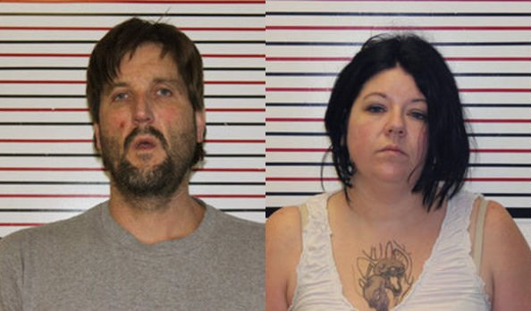 Mughshots of Ryan Bensen and Erica Manley. Pic: Clatsop County Jail
