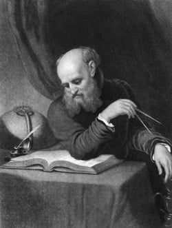 Galileo, engraving by Samuel Sartain