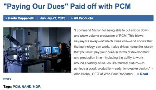 Micron PCM blog