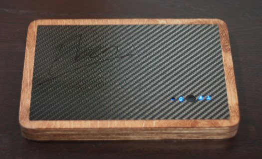 The back of the PiPad, signed by Eben Upton