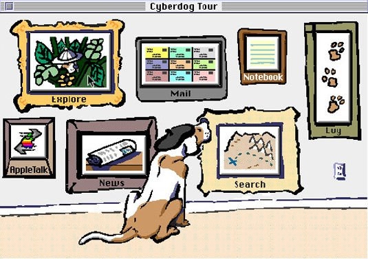 The OpenDoc-based Cyberdog browser