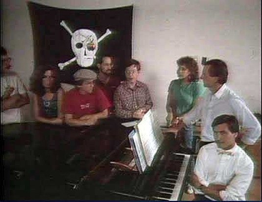 The original Macintosh team with the pirate flag