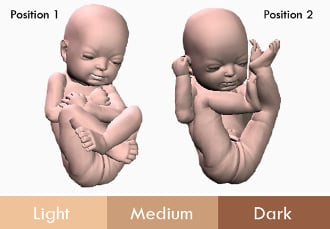 The possible options for your 3D Baby