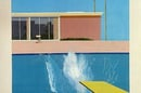 A bigger splash - Hockney painring