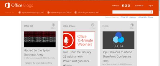 Hacked Microsoft Office blog