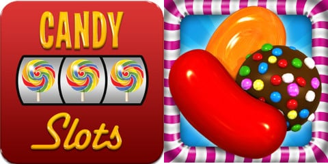 Candy Slots icon and Candy Crush icon